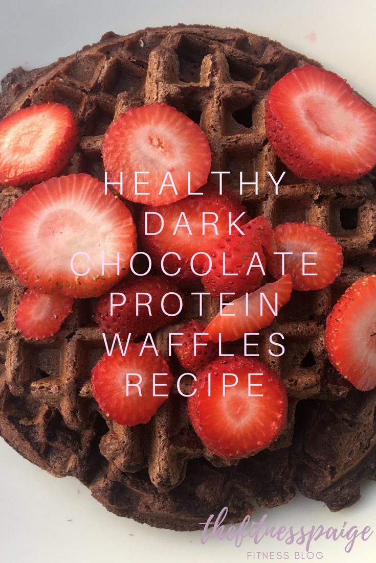 Recipe: Healthy Dark Chocolate Protein Waffles with Strawberries ...